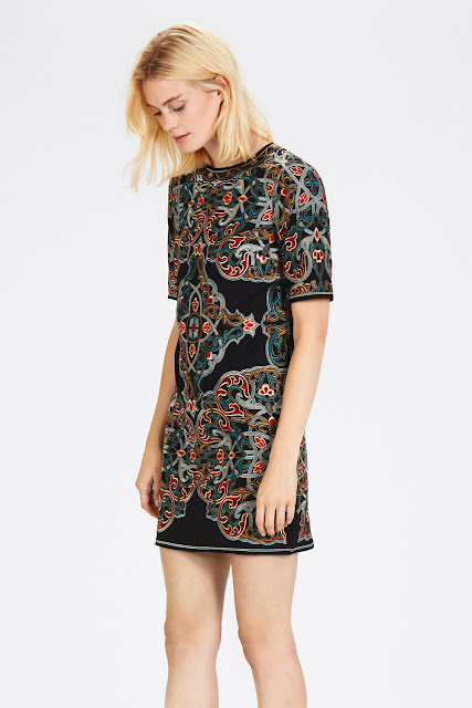 warehouse embroidered dress