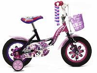 Sepeda Anak Wimcycle Glitter 12 Inci