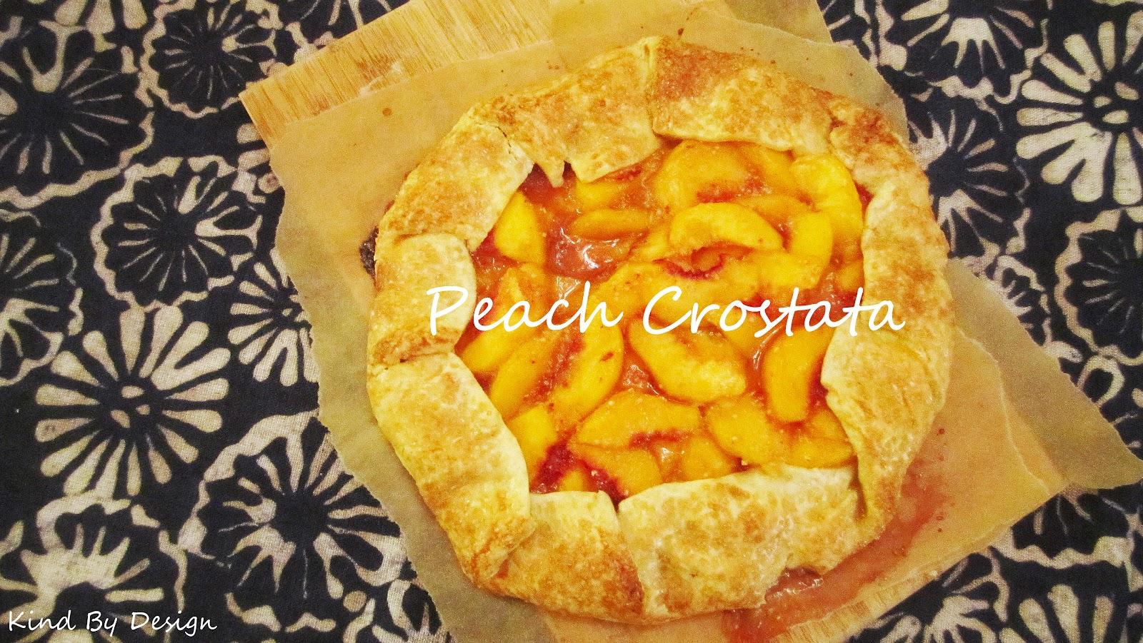 Peach Crostata.