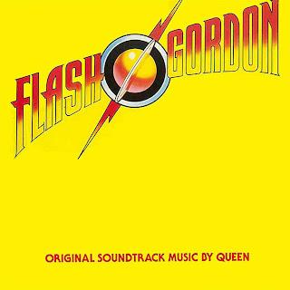 Capa da trilha sonora do filme Flash Gordon, produzida pelo grupo Queen em 1980.