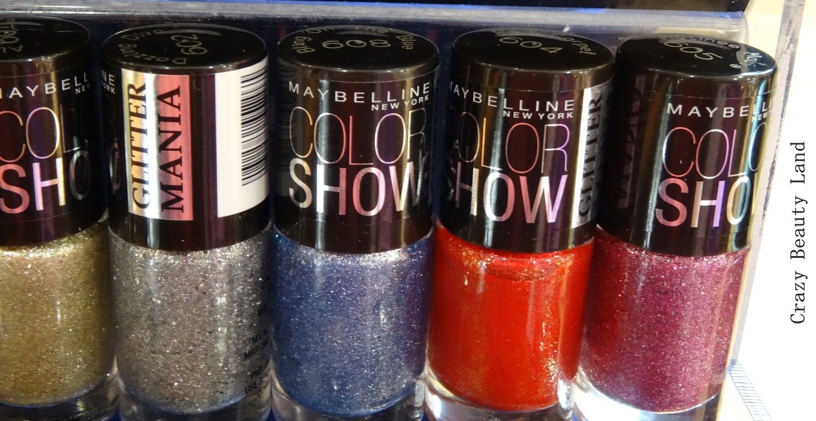 Maybelline Color Show Glitter Mania All Shades in India