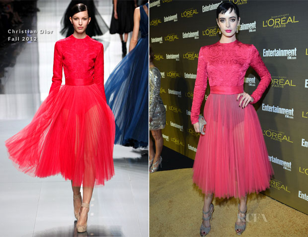 Krysten Ritter In Christian Dior   Love The Sheer Vs Opaque
