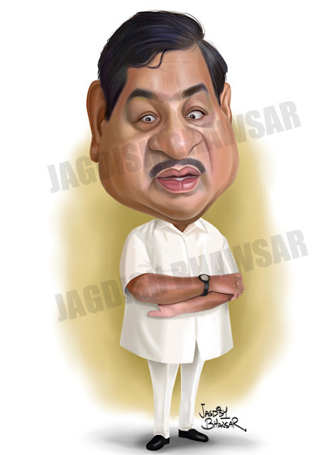 R.R.Patil Cartoon Caricature