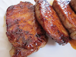 Glazed Pork Chops with Figs and Blue Cheese Recipe | Healthy Pork Recipe