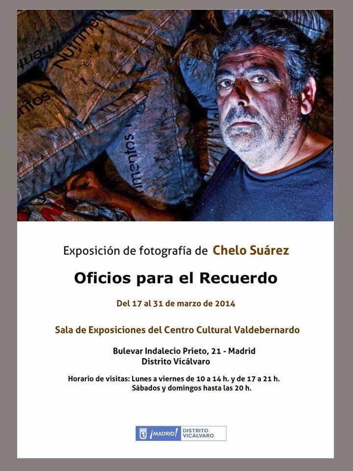 Exposición fotografía Chelo Suárez 17-31 marzo CC Valdebernardo, Vicálvaro
