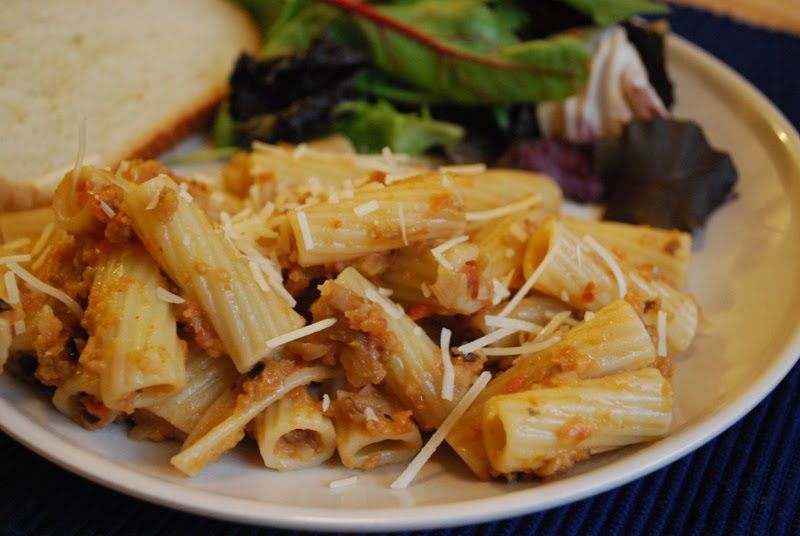 Hearty Helpings: Rigatoni with Eggplant Puree
