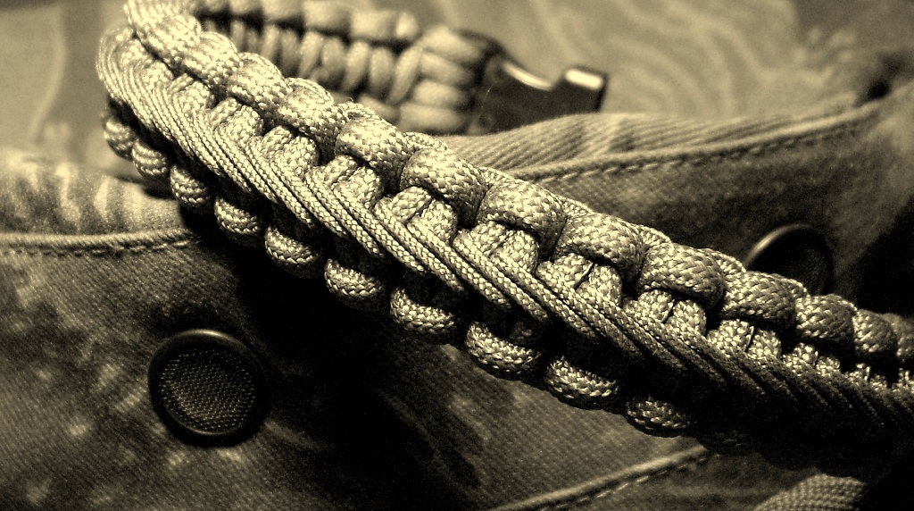 Stitched Paracord Bracelet Paracord Bracelet
