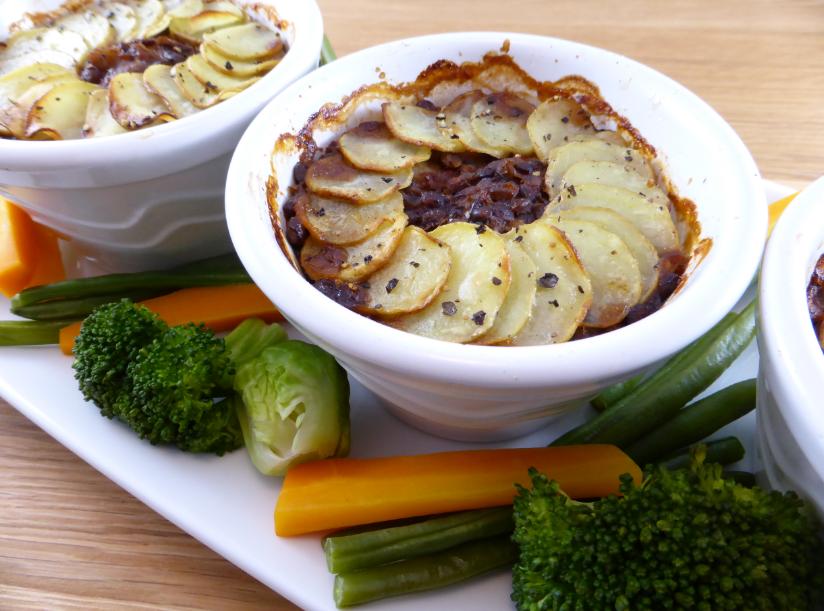suma: rocket & roses lentil & olive bakes with new potato tops (vegan & gluten-free)