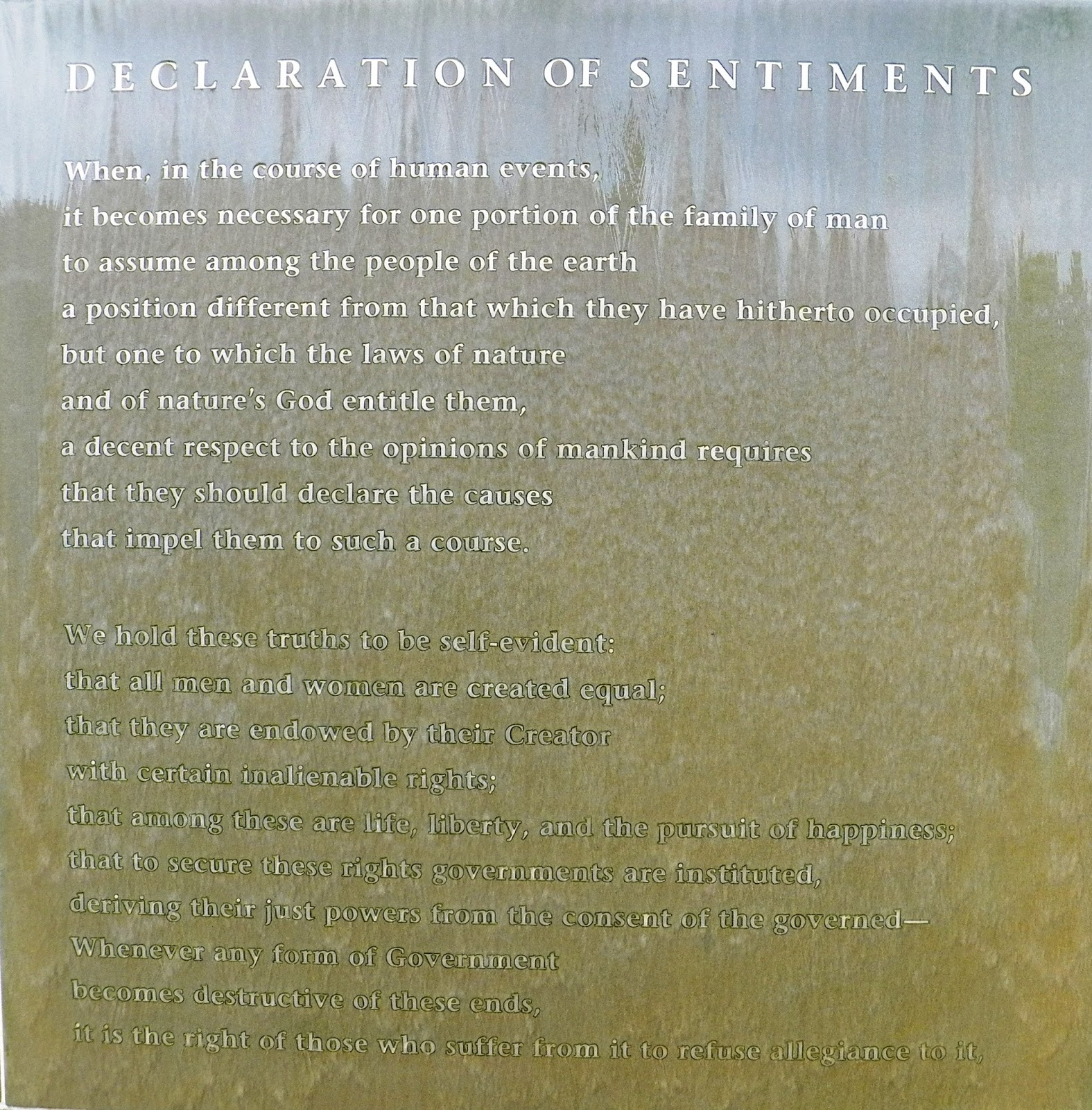 difference between declaration of independence and declaration of sentiments Political connection between them and the state of  signers of the declaration of independence the constitution of the united states of america.