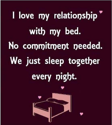 I love my relationship with my bed