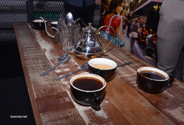 We went through the 'cupping' education on how to differentiate between different intensities
