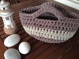 bolsa de costura en ganchillo con trapillo