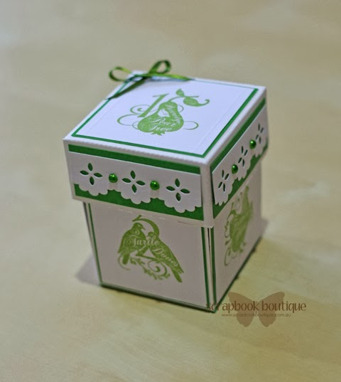 Scrapbook Boutique 12 Days Of Christmas Exploding Box By Sue