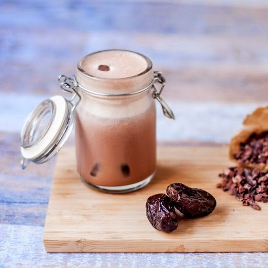 Picture of raw vegan chocolate milk