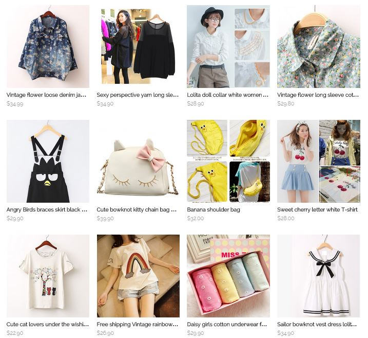 Sweetbox Store sells Harajuku, Jfashion, Kfashion, ulzzang, grunge, punk, minimalist styles and more.