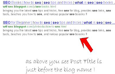 Optimizing Your Blog Title Tag For Search Engine Better SEO