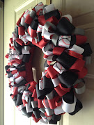 Here is a Baseball ribbon wreath. This would be great for Opening Day, .