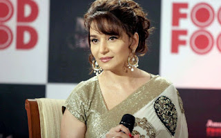 Madhuri Dixit Cute Pictures In Saree