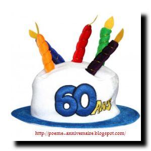 La vie commence à 60 ans souhaiter joyeux anniversaires.