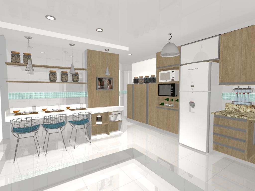 Decoração de interiores Studio Redecorando: Decoração Cozinha  #9F662C 1024 768