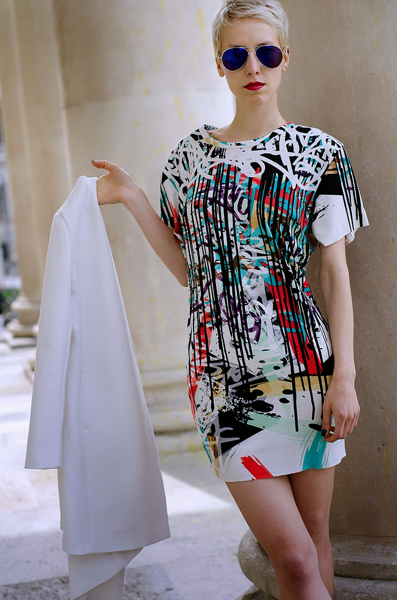 graffiti printed dress prada sheinside beeswonderland