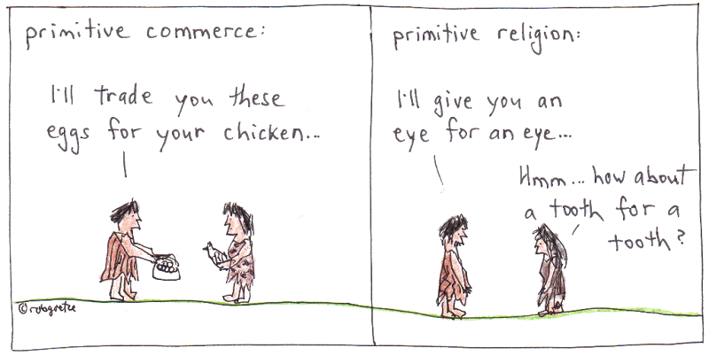 primitive religion cartoon by robg