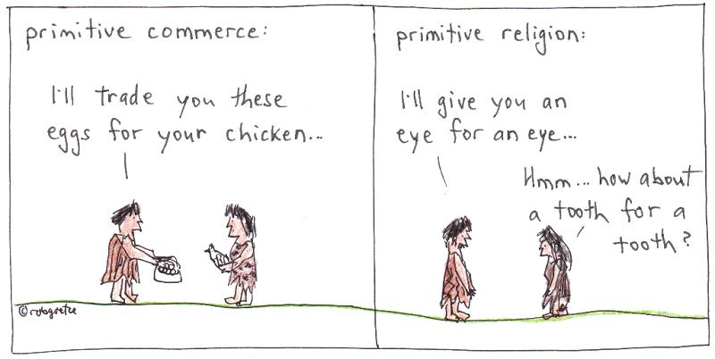 primitive religion cartoon by robg