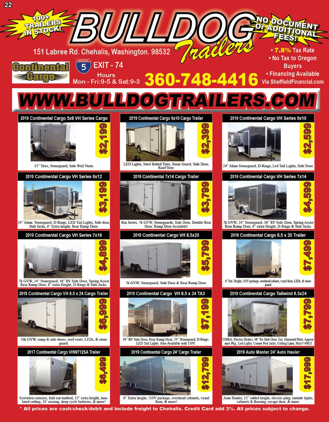 Bulldog Trailer Carries Continental Cargo Trailers!!