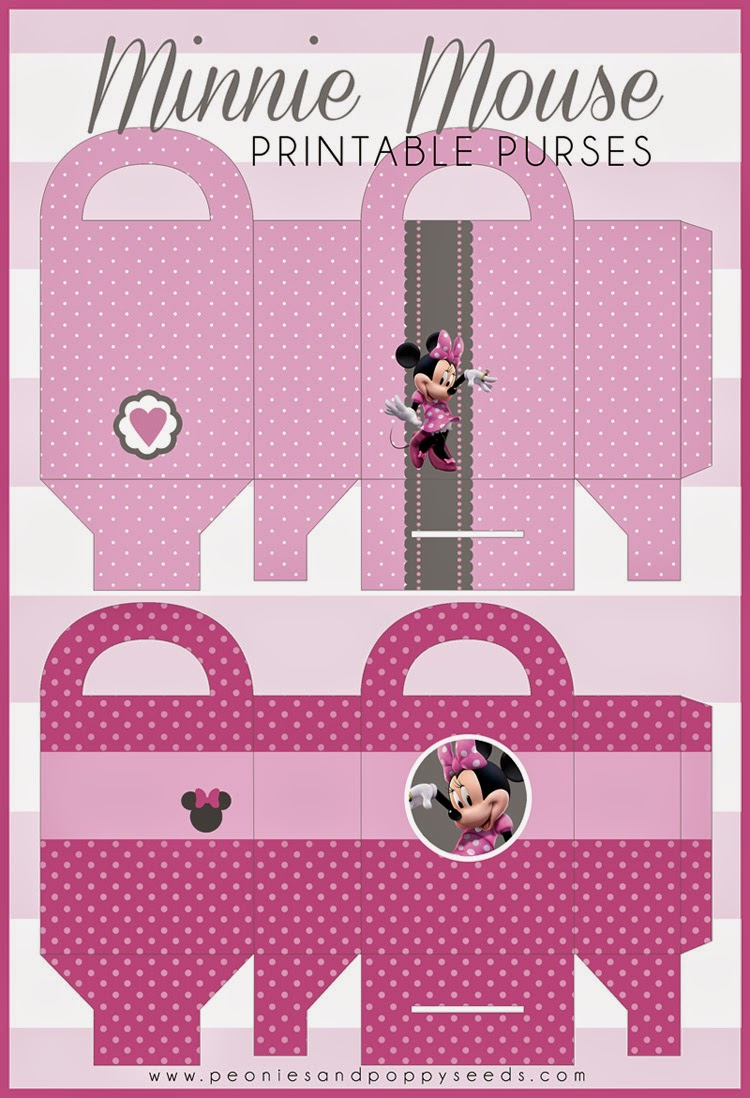 Cute Minnie Free Printable Bags.