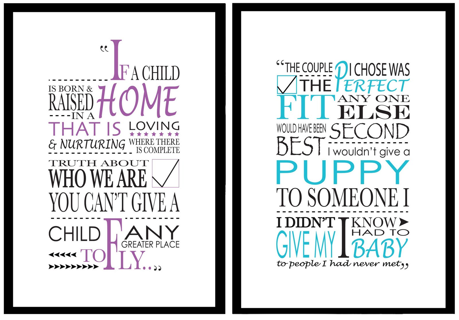 Adoption Quotes Adorable Samantha Holt Graphic Design Typographical 'adoption Quote' Posters