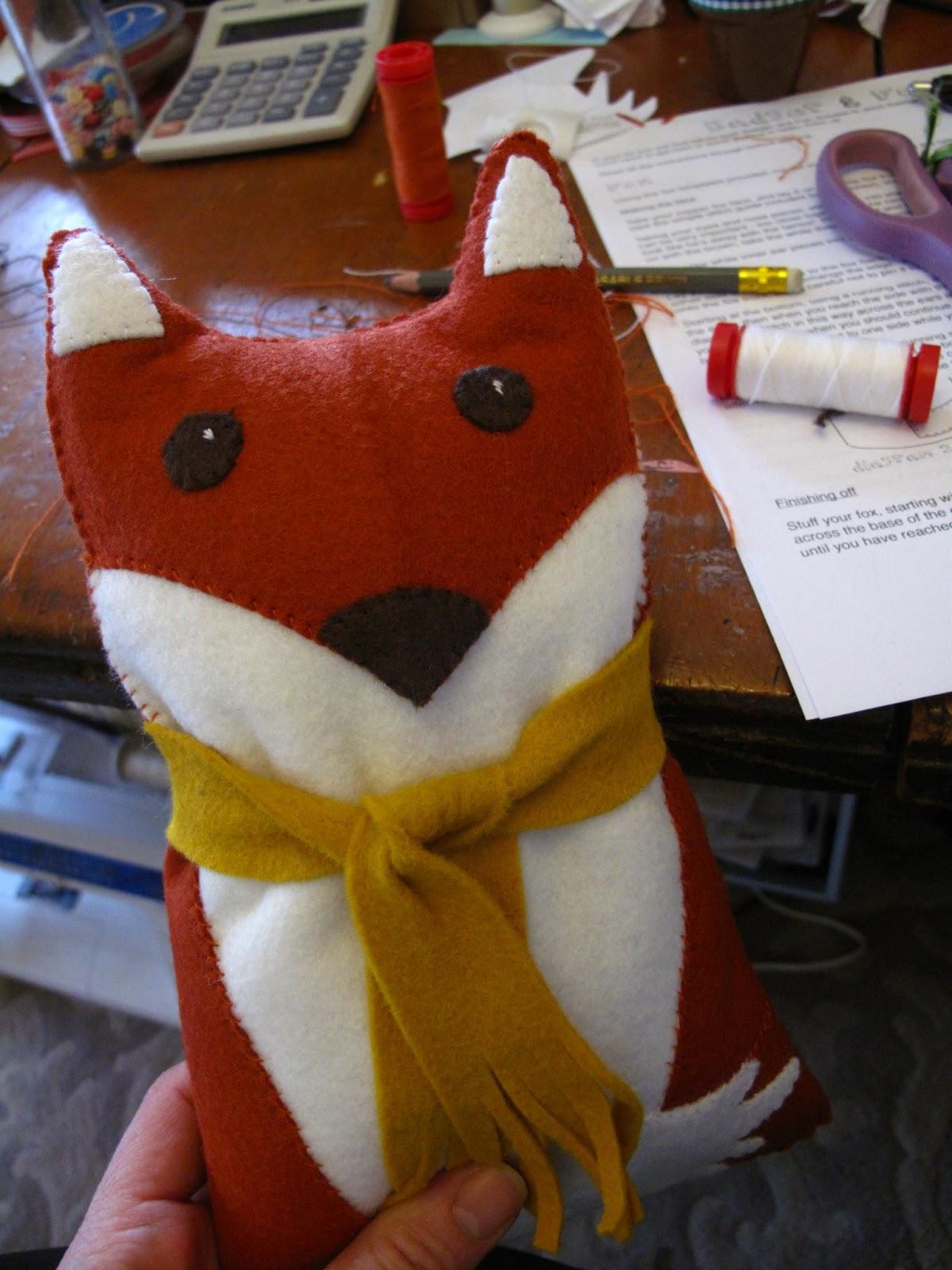 Make A Foxy N Badger Kit Wool Felt Sewing