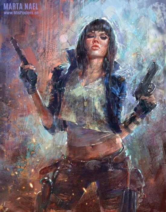 Marta de Andrés martanael deviantart ilustrações fantasia pinturas impressionismo digital