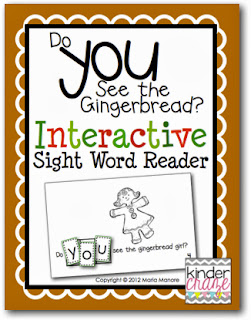 """Do You See the Gingerbread"" Interactive Sight Word Reader"
