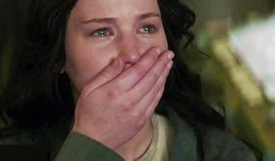Katniss crying Mockingjay Jennifer Lawrence funny
