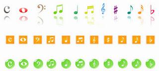 notas musicais vetorizados grátis para o download