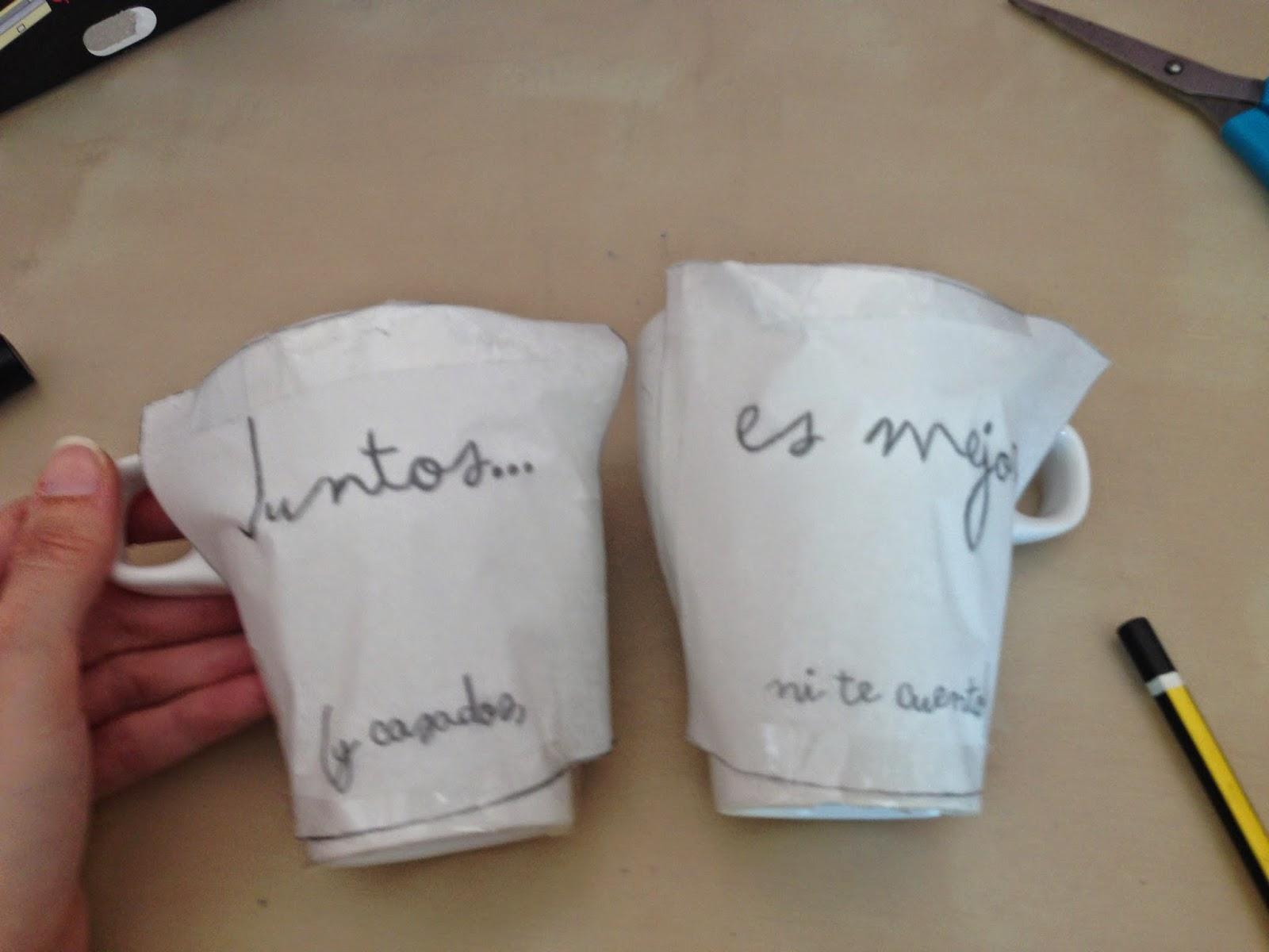 Blog de bodas yo dire que si tutorial tazas - Como decorar una taza ...