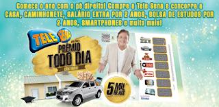 Números sorteados Tele Sena Prêmio todo dia janeiro 2016
