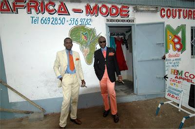 Gentlemen of Bacongo - south africa art - wallpaper black city