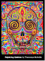 Day of the Dead colorful skeleton face