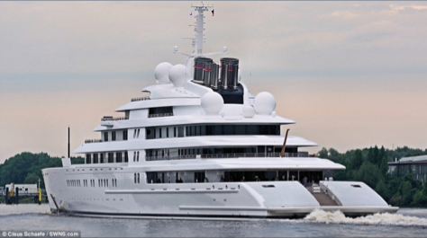World s largest private yacht takes to the sea photos and for Largest private boat