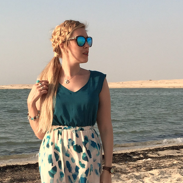 Lilith Moon Exploring Desert Sculptures In Qatar By