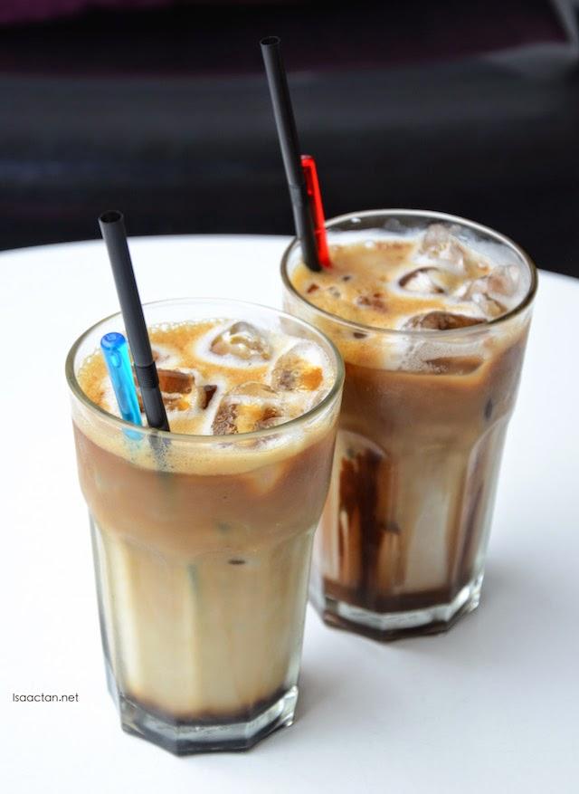 Mocha Java (RM10) and Gula Melaka Iced Coffee (RM12)