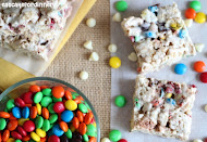 White Chocolate Cereal Treats with M&M's