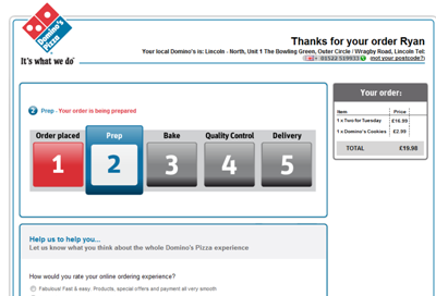 Innovation Is Fun Dominos Online Order Tracking