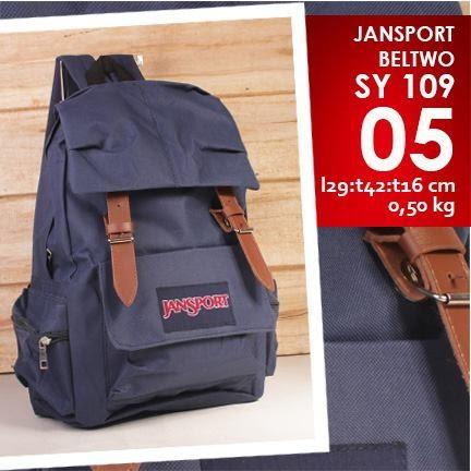 jual online tas jansport kanvas murah navy/ dongker