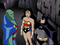 Manhunter Wonder Woman and Batman in Justice League - Secret Origins