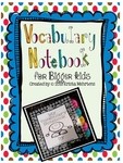https://www.teacherspayteachers.com/Product/Vocabulary-Notebook-for-Bigger-Kids-822597
