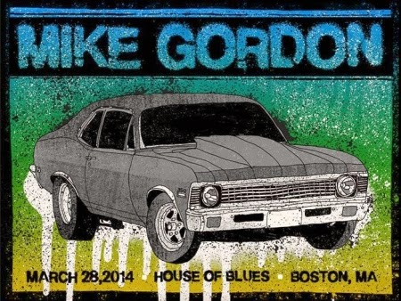 Mike Gordon Boston poster