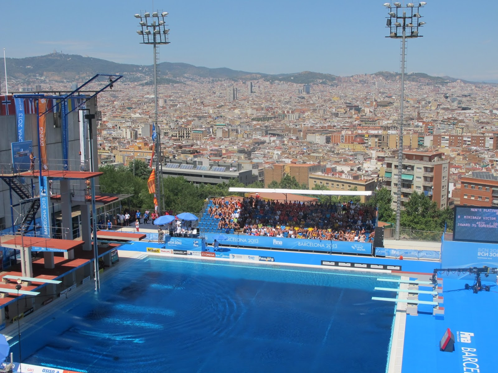 Barcelona besotted because of the breathtaking view for Piscina montjuic barcelona