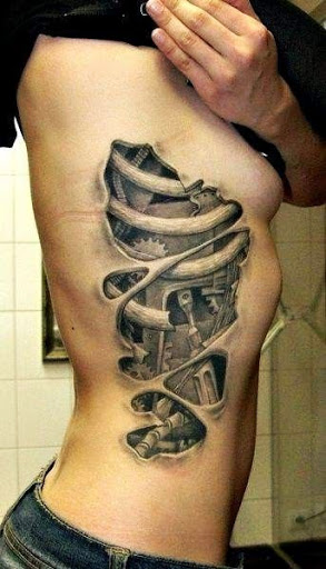 Ribcage Tattoos Ideas for Men